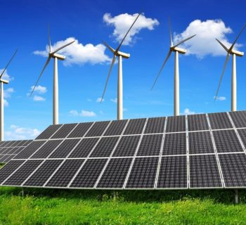 Renewables. Wind-Solar-Turbine Water